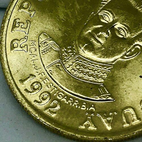 Paraguay - 1992  50 GUARANIES - DDO- Cupper/Nickel/Zink - Error Coin KM# 191