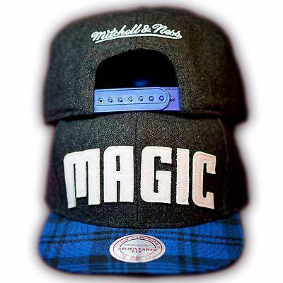Original Mitchell & Ness Orlando Magic NBA Snapback Cap EU264 Dunkelgrau/Blau Orlando Magic Snap