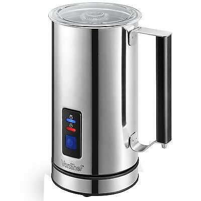 VonShef Premium Stainless Steel Dual Function Electric Milk Frother And Warmer
