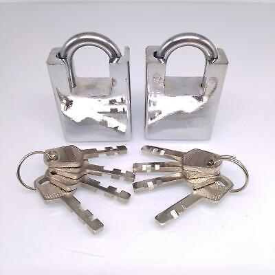 2pcs Shipping Container Garage Anti-theft Lock Padlock With 4 Keys 40mm