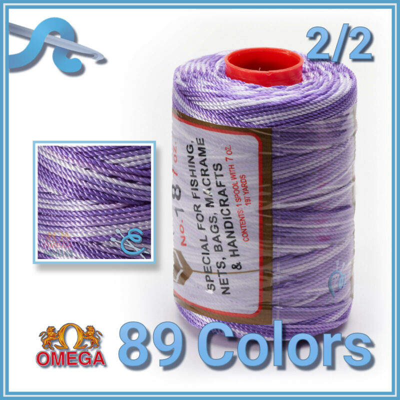 Espiga No.18 [Variegated] - 100% Nylon Omega String Cord Thread for Knitting and