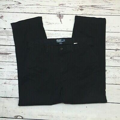 Polo Ralph Lauren Prospect Pants Trousers Black Tag 36X30 Measures 36X29
