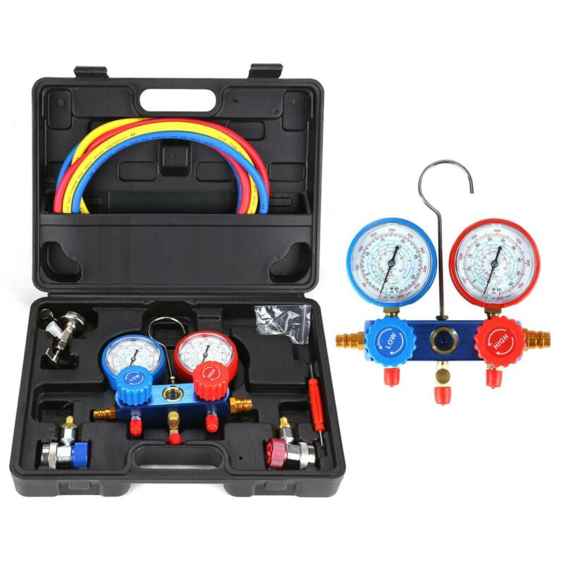 Vislone AC R134A Measuring Hose Gauge Kit
