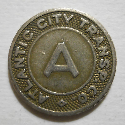 Atlantic City Transportation Company (New Jersey) transit token - NJ20F