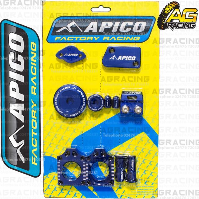Apico Bling Pack Blue Blocks Caps Plugs Nuts Clamp Cover For Yamaha YZ 450F 2012