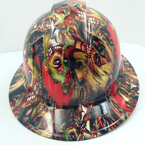 FULL BRIM Hard Hat custom hydro dipped , NEW COLOR ZOMBIE GIRLS SUPER HOT NEW 3