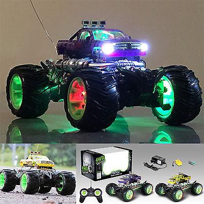 RC Ferngesteuertes Auto Monstertruck mit Frontlicht und Leuchtende Stollenreifen