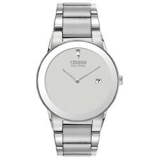 Citizen Eco-Drive Men's AU1060-51A Axiom Gray Dial Silver-Tone 40mm Watch