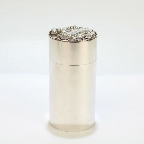 Jocelyn Burton Seashell and Moonstone Encrusted Sterling Silver Box - SL