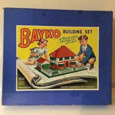 VINTAGE BAYKO BUILDING SET FROM 1950s SET NO 1 PATENT NUMBER 422645