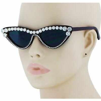 Rhinestone Bling Diamond Cat Eye Cateye Frame (Bling Cat Eye Sunglasses)