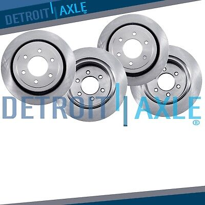 All 4 Front  Rear Rotors for 2005 2006 2007   2012 Nissan Pathfinder V6 ONLY