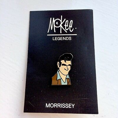 Used, Pete McKee Morrissey The Smiths Pin Badge, A Guy Called Minty, Connoisseur Etc.. for sale  Hull
