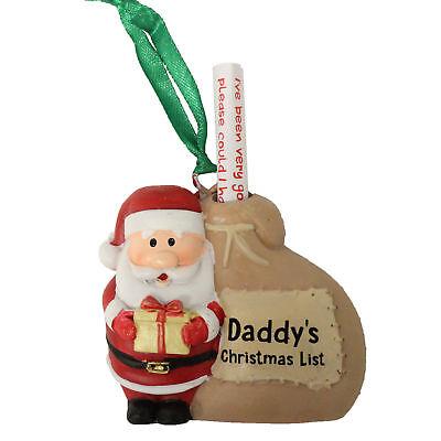 Christmas Hanging Tree Decoration - Santa with Sack - Daddy's Christmas List