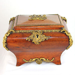 antique french louis xv jewelry box casket music box. Black Bedroom Furniture Sets. Home Design Ideas