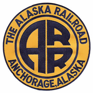 LARGE (8 inch) Alaska Railroad embroidered patch