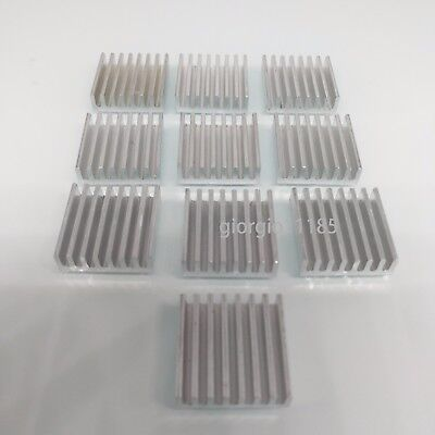 Us Stock 10pcs 20 X 20 X 6mm Heat Sink Cooling Aluminum Heatsink Cpu Ic Led