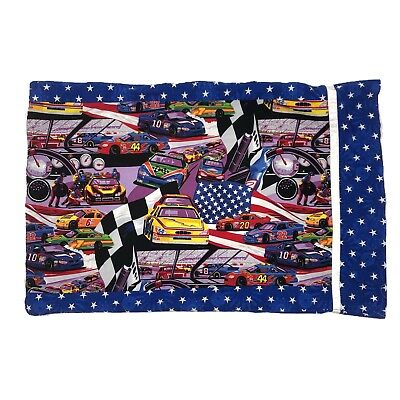 Handmade OOAK standard size pillow pillowcase NASCAR racing bedding home decor ()