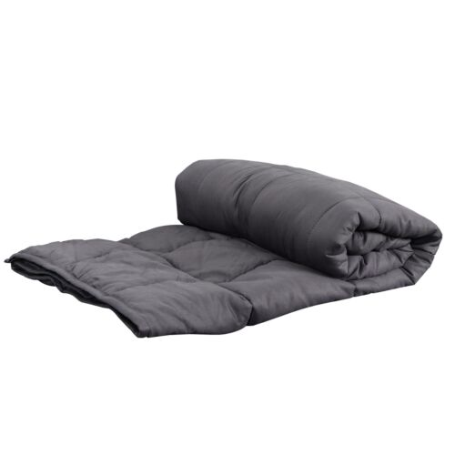 Cotton Breathable 60×80 Strong Loops 20lbs Weighted Blanket Promote Deep Sleep Bedding