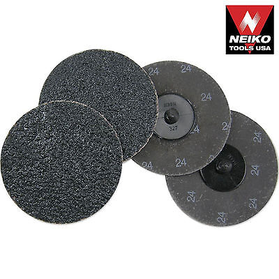 Neiko 11180a - 10 Piece 3 24 Grit Silicon Carbide Sanding Discs Roll-on And Loc