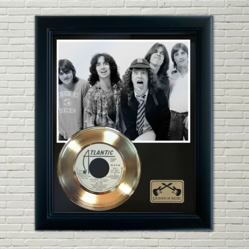 """AC/DC """"Highway To Hell"""" Framed 45 Gold Record Display"""