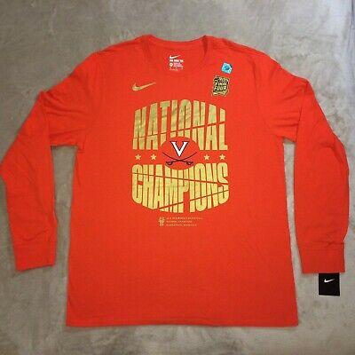 Virginia Cavaliers NCAA Basketball National Champions Nike Long Sleeve Shirt XL