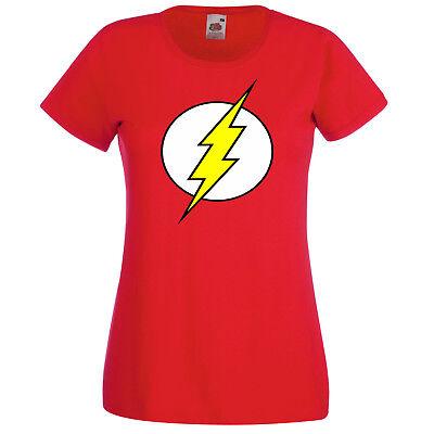 Batman Damen Shirt (TRVPPY Damen T-Shirt Shirt Modell Flash Batman Superman Wonder Woman XS-XXL)