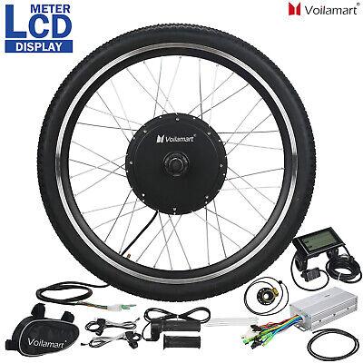 1000W Bicicleta Eléctrica Kit de Conversión Rueda Delantera Velocidad LCD Motor