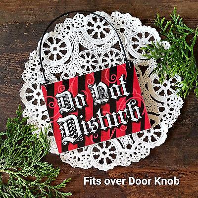 Office Cubicle Door - DO NOT DISTURB * Mini Door Knob Bedroom Office Ornament Cubicle RED ROOM USA New