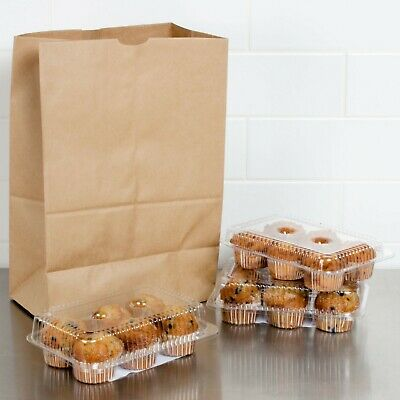 Large Paper Grocery Bags 12x7x17 Kraft Brown Heavy Duty Sack 57 Lbs 100 Count