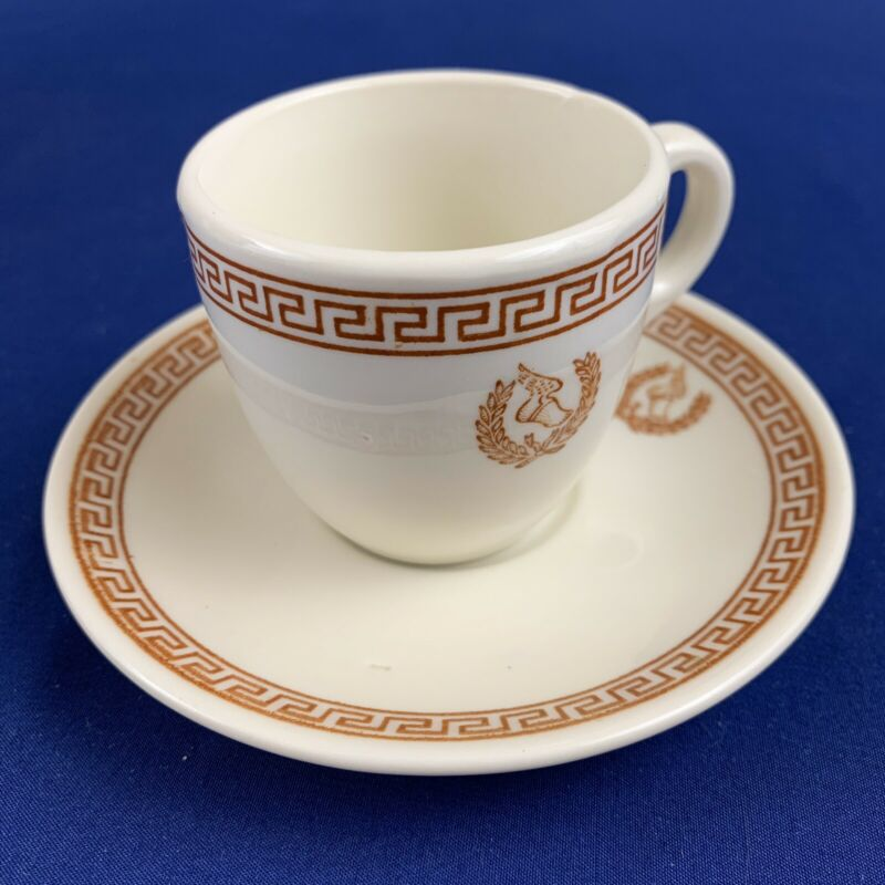 Vintage Mayer China Troy Pattern Restaurant Ware Demitasse Cup