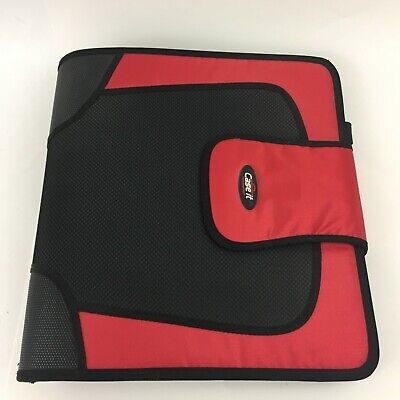 Case It 3-ring Zipper Binder 2 Capacity Colored Tabbed Expandable File Pockets