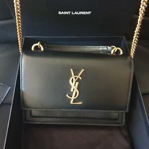 Saint Laurent YSL Black Sunset Chain Bag *100% NEW & GENUINE*