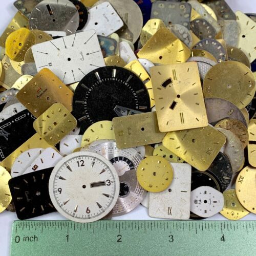 10 Watch Faces Dials Distressed Steampunk Part Art Watchmaker Lot Small Large
