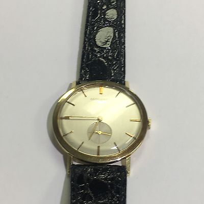 14k Gold Gent's Longines Watch With Leather Band