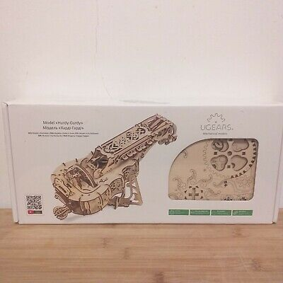 HURDY-GURDY Musical Instrument Wooden Mechanical Puzzle model kit uGears 70030