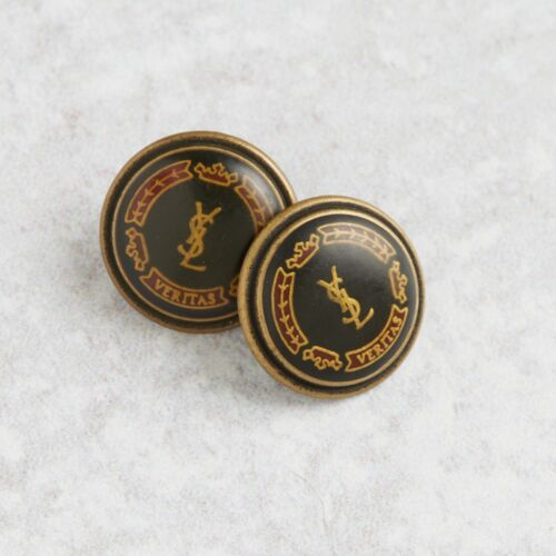 YSL Yves Saint Laurent Bronze 2 Buttons small 15 mm AUTH RARE!!!