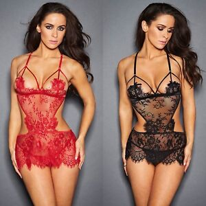 Small medium Red Black Sexy Romantic Lace Lingerie Adult xxx