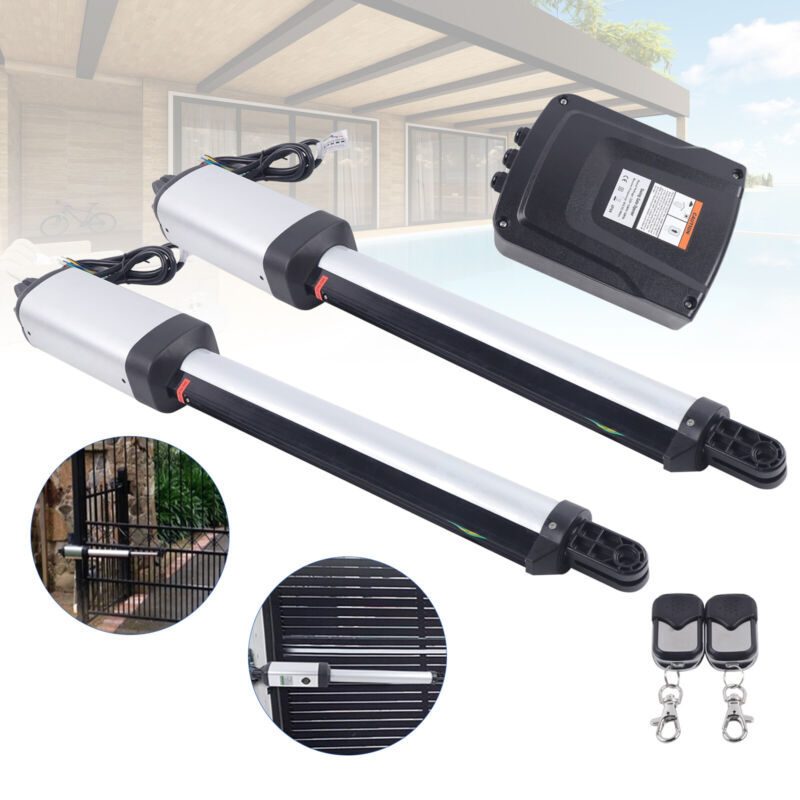 24V Electric Automatic Dual Arm Swing Gate Opener Hardware Driveway Door 300KG