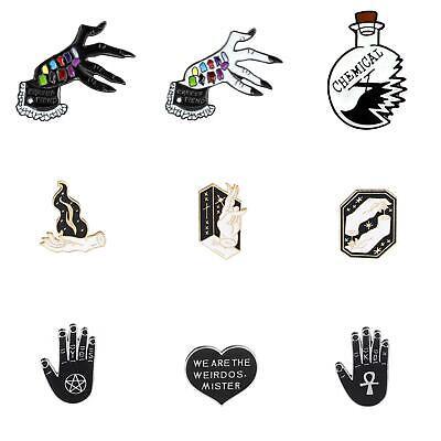 Unique Letter cup/skeleton love heart Halloween Enamel Brooch Pin Jacket -