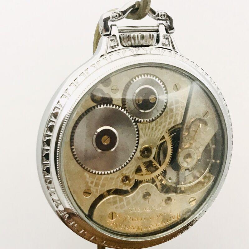 RARE 2-Tones 1910 Hamilton 974 16S 17J  BOC Bar Over Crown Railroad Pocket Watch
