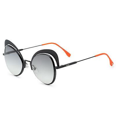 Fendi FF 0247 807 Eyeshine Black Metal Cat-Eye Sunglasses Grey Gradient (Fendi Eyeshine Sunglasses)