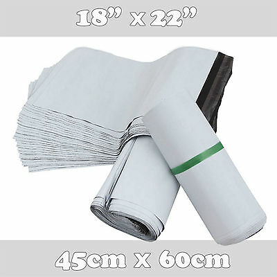 200 Premium Quality Extra Large Plastic Mailing Poly Postage Bags 18x22 45x60cm