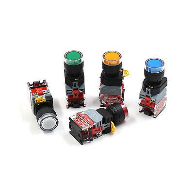Led Button Switch 12v 24v 220v 380v Maintained Momentary Nonc 22mm Panel Mount