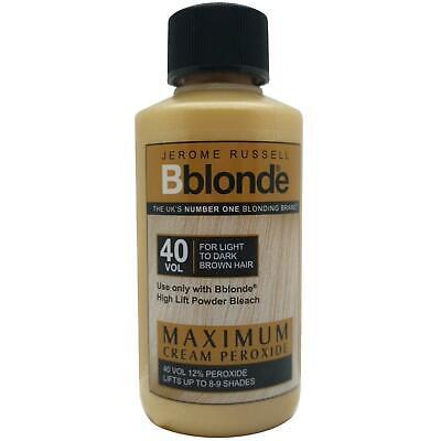 Jerome Russell Bblonde Cream Peroxide Maximum Lift 40VOL & 12% Peroxide 75ml