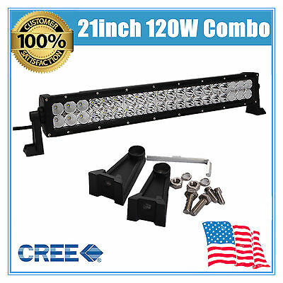 "120W 21"" INCH CREE LED LIGHT BAR SPOT &FLOOD DRIVING LAMP OFFROAD BOAT 4WD LAMP"