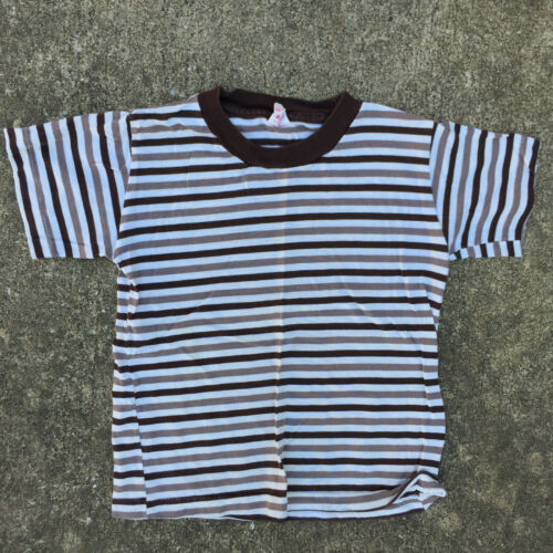 Vintage 60s 50s Kids Youth Boys Childrens Buster Brown T Shirt Surf Stripe USA