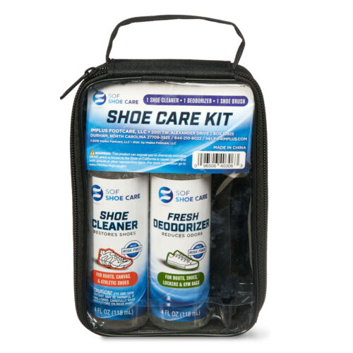 SOF SHOE CARE KIT: CLEANER FRESH DEODORIZER 4-SIDED BRUSH Boots Canvas Athletic