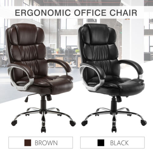 PU Leather High Back Office Chair Executive Task Ergonomic C