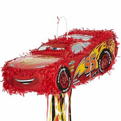 Cars 3 Lightning McQueen Pinata Pull String Birthday Supplies and Games](String Pinata)